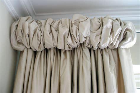 puffy curtains puffball headed curtains