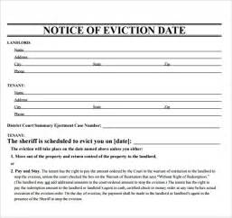 eviction notice template sle eviction notice template