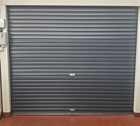 Steel Garage Entry Doors Single Charcoal Roll A Door Garage Door Magnificent Garage Doors
