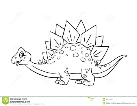 dinosaur stegosaurus coloring pages stock photo image