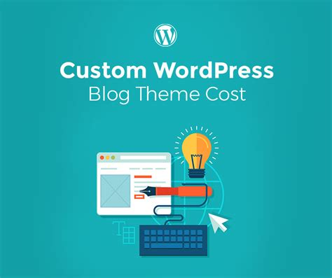 how much does a custom wordpress blog theme cost
