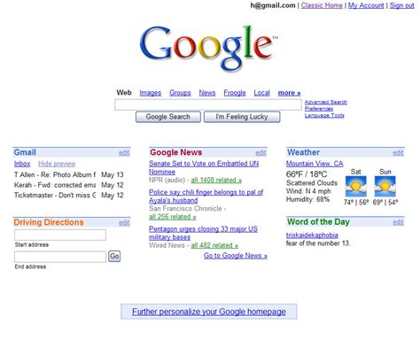themes for google page igoogle a more profitable google homepage
