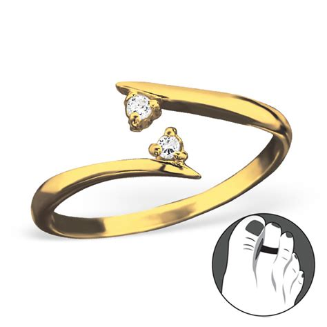 silver converge adjustable toe ring cz 21277 elf925
