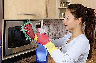 girl cleaning  house royalty  stock photo image