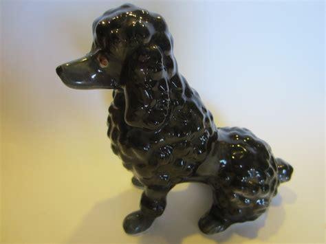 ceramic figurines black ceramic poodle figurine made in japan for sale
