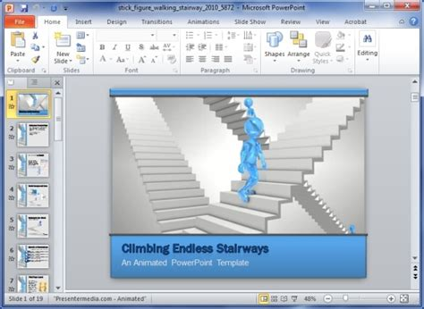 Animated Steps To Success Powerpoint Template Microsoft Powerpoint Animated Templates