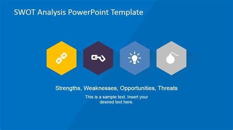 design analysis template creative swot flat design diagram for powerpoint slidemodel