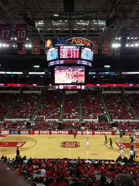 nc section pnc arena section 204 nc state basketball
