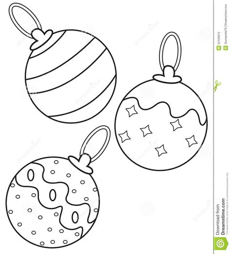 christmas coloring pages for elementary students kids christmas balls coloring page stock illustration image