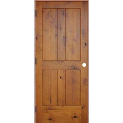 Pacific Entries 32 In X 80 In Rustic Prefinished 2 Panel Solid Wood Prehung Interior Doors