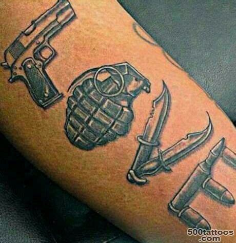 Love Tattoo Gun Grenade | grenade tattoo photo num 9662
