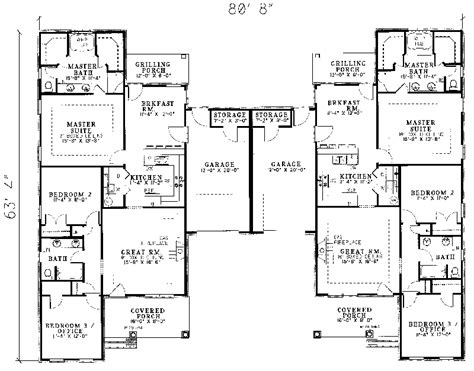 multiple family house plans multi family floor plans home design ideas and pictures