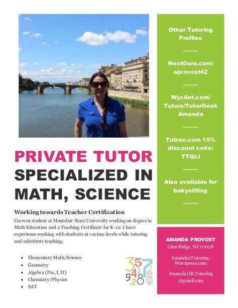 tutoring flyer tutor flyer