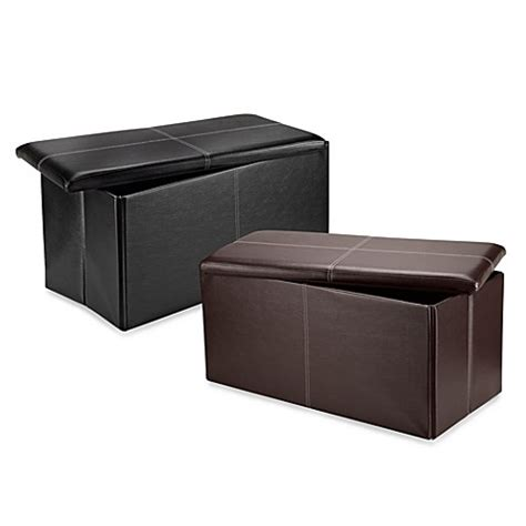folding storage bench by fhe fhe foldable storage bench bed bath beyond