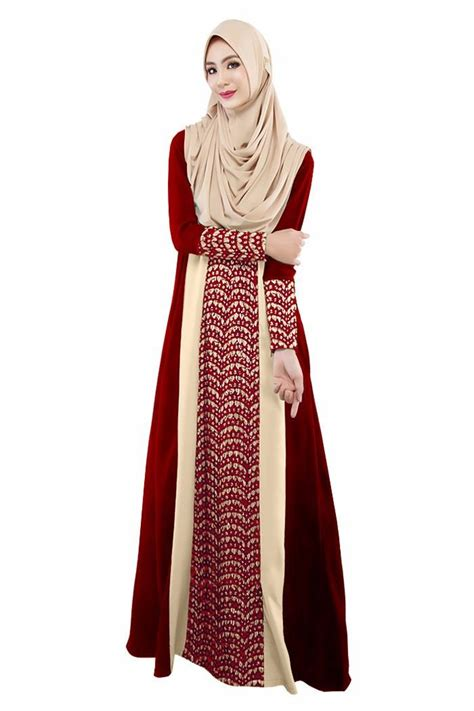 Syari Maxi Maxy Dress Gamis Muslim 2018 muslim womens abaya dress o neck sleeve maxi kaftan abaya fashion dubai
