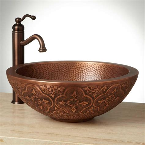 copper vessel sinks bathroom 18 quot bellis double wall copper vessel sink vessel sinks