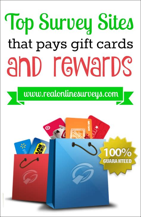 Survey Gift Card Rewards - top survey sites that pays gift cards and rewards