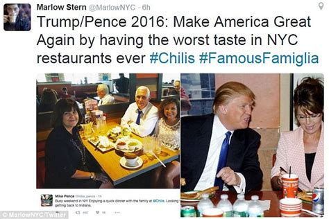 Mike Pence Annoys New Yorkers After Tweeting His Dinner At | mike pence annoys new yorkers after tweeting his dinner at