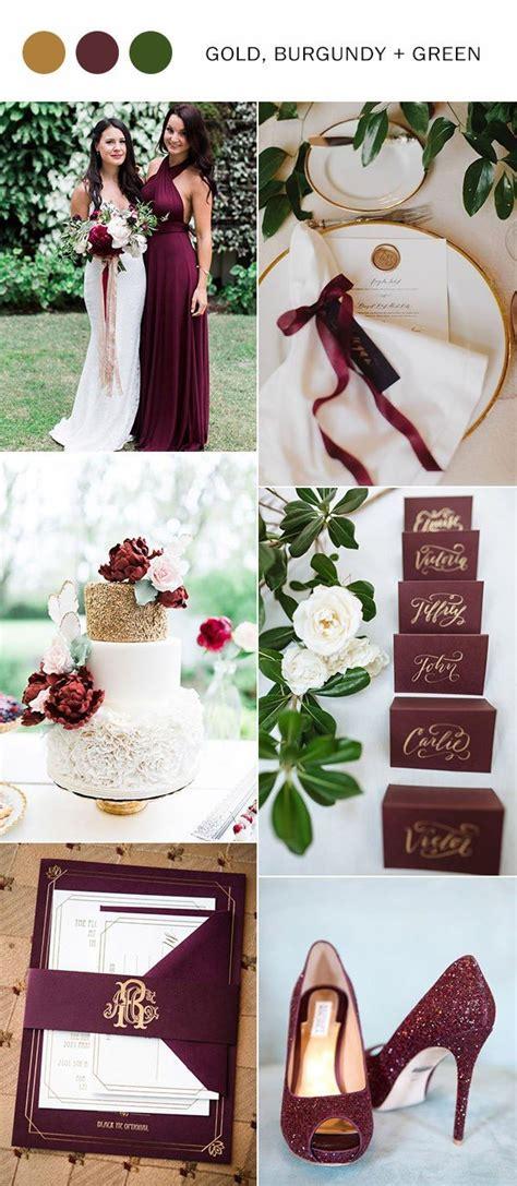 trending  perfect burgundy wedding color ideas  love
