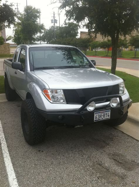 nissan trucks black painted the front grill piece nissan frontier forum