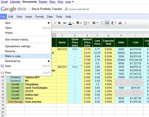 Our Free Online Investment Stock Portfolio Tracking Stock Portfolio Template