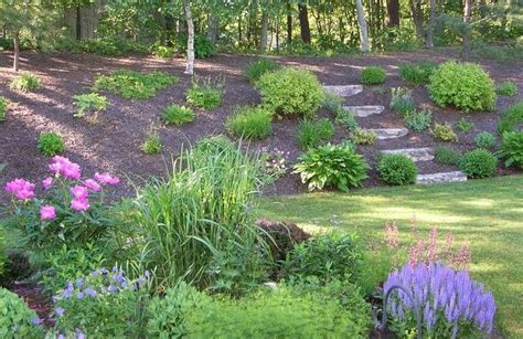 landscaping a hill landscaping ideas for backyard with a hill mystical