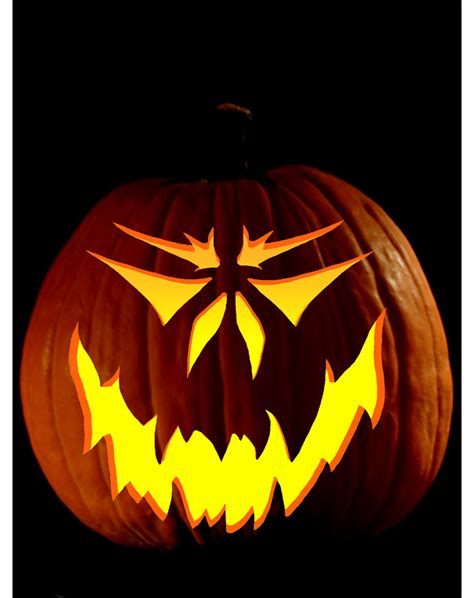 scary pumpkin eyes clipart best