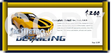 car wash gift card template automotive gift certificate template gift ftempo