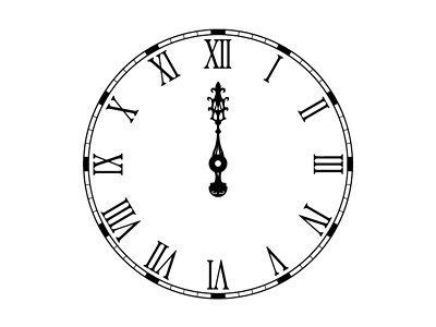 printable midnight clock 123 best images about clock faces on pinterest pocket