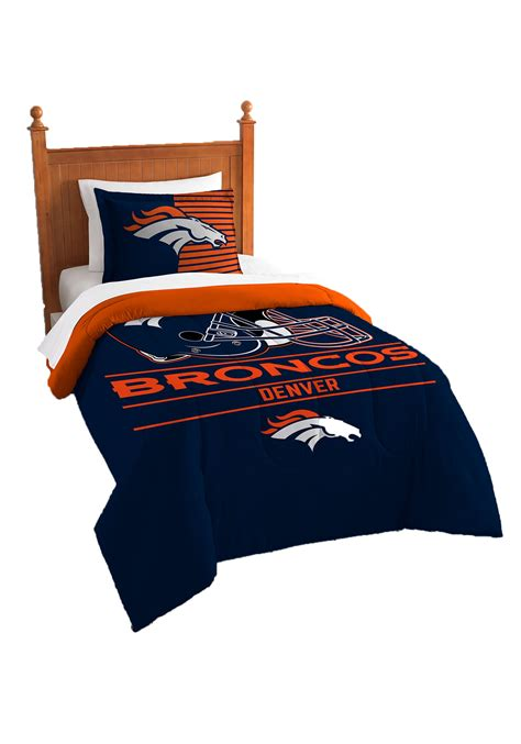 denver broncos bedding denver broncos twin comforter set