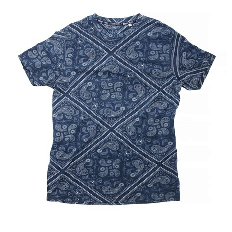 Paisley Pattern T Shirt | brave soul mens wallace short sleeve paisley pattern t