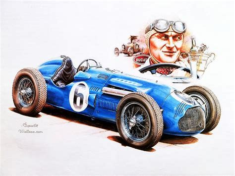 vintage cars drawings vintage racing art by vaclav zapadlik blue gugatti