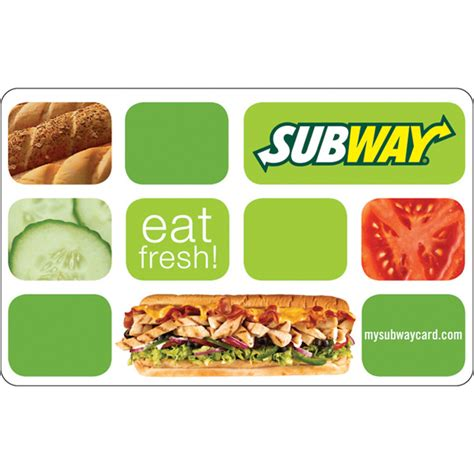 Subway Gift Card - 6 50 for a 10 subway gift card mybargainbuddy com