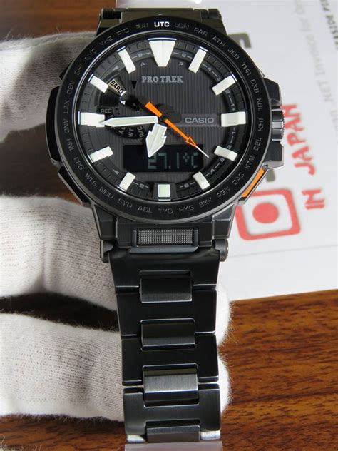 titanium black coating protrek manaslu prx 8000yt 1 with black titanium dlc coating