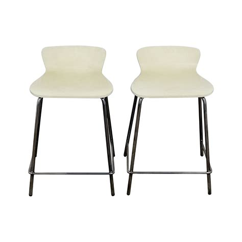 Felix White Counter Stool by 90 Crate Barrel Crate Barrel Felix White