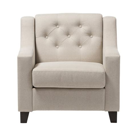 baxton studio arcadia contemporary beige fabric upholstered accent chair   hd