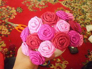 buat bunga kertas crepe dia terima nikahnya rose pomander ball