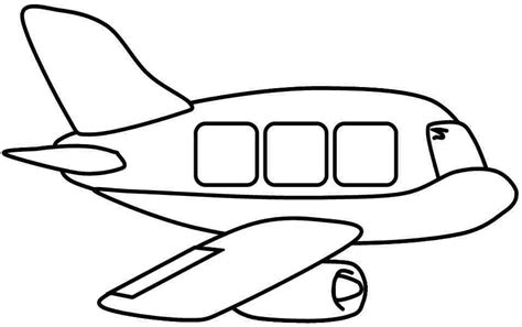 water plane coloring page transport clipart black white collection