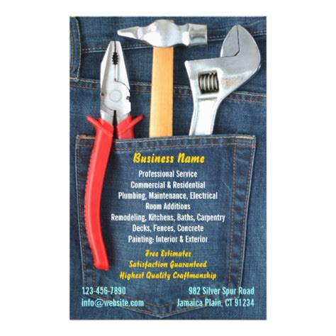 free handyman flyer template handyman flyer zazzle