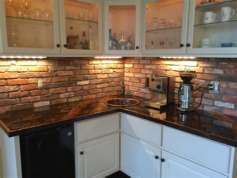 Kitchen Brick Backsplash by Reclaimed Thin Brick Veneer Thin Brick Veneer Brick