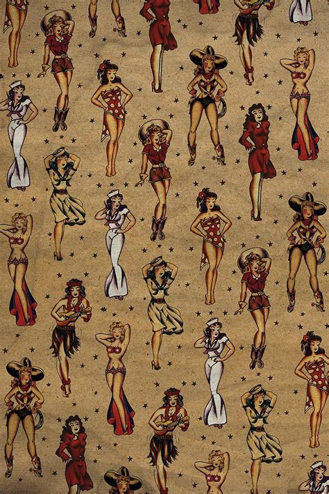 tattoo scrapbook paper tattoo digital paper sailor jerry pinup paper pinups