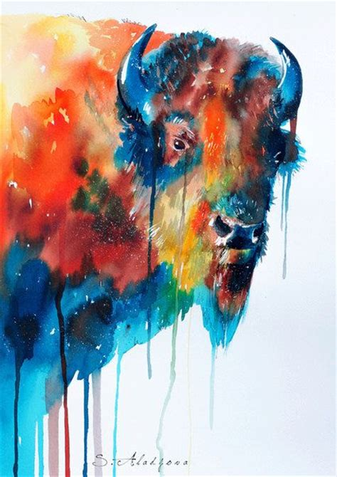 painting animals cow watercolor painting print animal illustration
