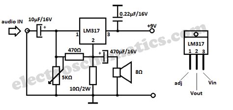 transistor lm317 lm317 circuits projects