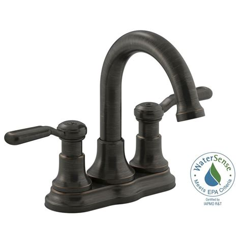 kohler rubbed bronze kitchen faucet kohler worth 4 in centerset 2 handle bathroom faucet in