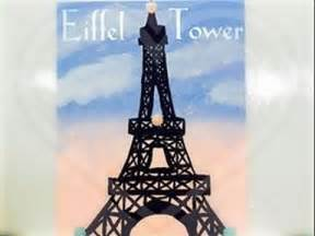 acrylic painting eiffel tower coloroftheyearart