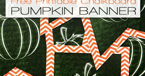 printable pumpkin banner i should be mopping the floor free printable chalkboard