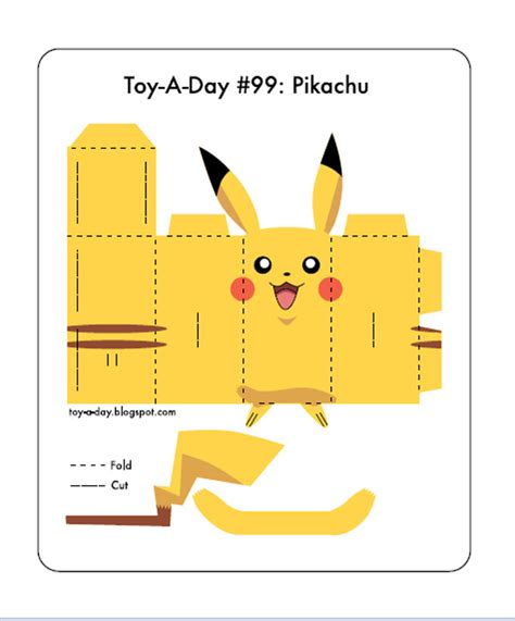 Print And Make Paper Toys - 675 pikachu paper template pikachu crafts