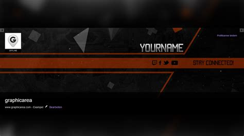 The Best Twitch Profile Banner Template With Psd Download Twitch Header Template