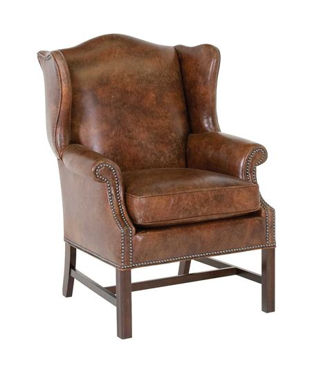 classic chair classic leather george iii wing chair 4662