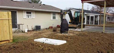 backyard excavation mr dirt excavating and concrete evansville indiana